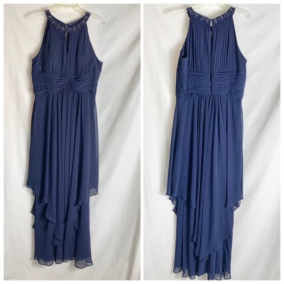 Eliza J Chiffon Evening Gown Sz 16p
